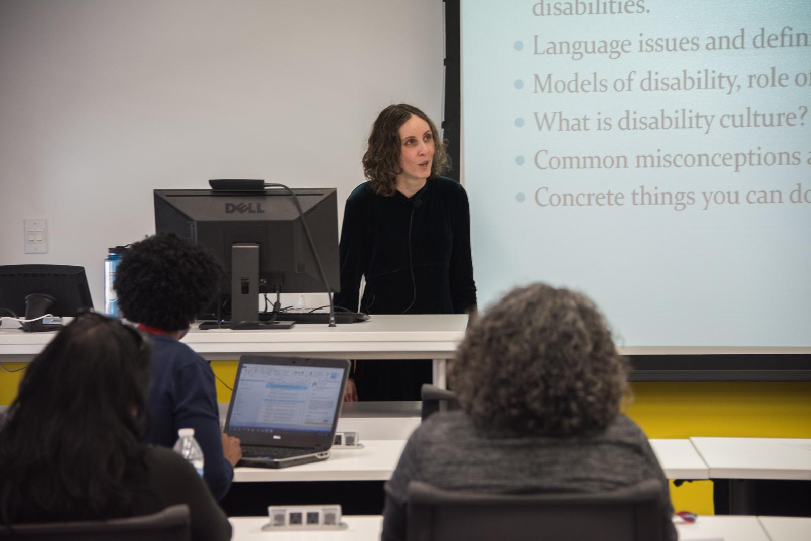 Arielle teaching a class